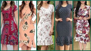 Beautiful Prints Modren Style Casual Wear Street Style Flare Sheath Dress/bodycone Dress Designs2020
