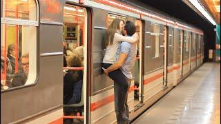 Kissing Prank - Kissing Girls at Czech SUBWAY!! (GONE HOME)