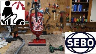 SEBO Felix 1 Upright Vacuum Cleaner Repair-Models 9809,90807,9808am,ET-1