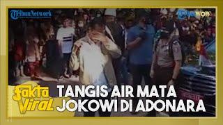 Fakta Viral Video Jokowi Menangis di Lokasi Bencana Banjir Bandang di NTT, Warga Desa Ikut Menangis