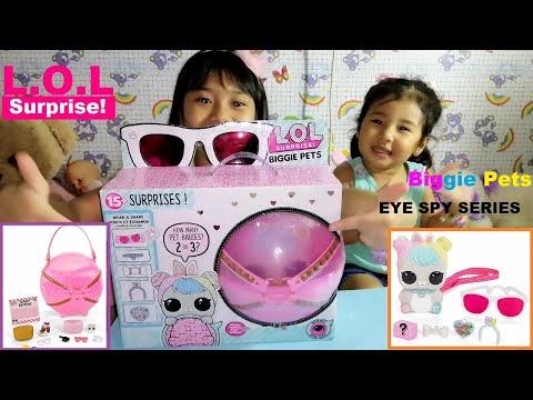 Unboxing / Opening LOL Surprise Biggie Pets | Eye Spy Series