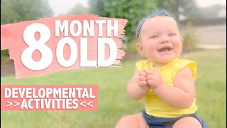 HOW TO PLAY WITH YOUR 8 MONTH OLD BABY   Developmental Milestones   Activities for Babies   CWTC