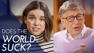 How Much Does the World Suck? A Quiz with Bill Gates | Ingrid Nilsen | Kholo.pk