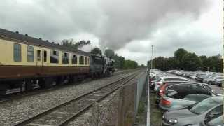 preview picture of video 'Steam Train: 35028 Clan Line, Cathedrals Express to Cardiff, 20 Aug 12, at Twyford'