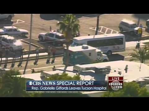 Rep. Gabrielle Giffords Leaves Tucson Hospital