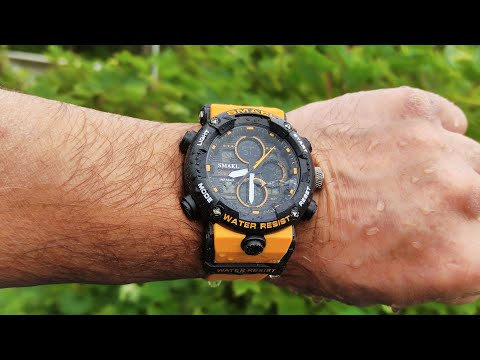 Мужские тактические часы SMAEL 8038 Mens tactical watch