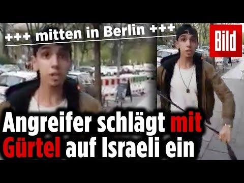 Mitten in Berlin: Israeli mit Gürtel verprügelt, weil er Kippa trug