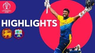 Fernando and Pooran Hit Maiden Tons   Sri Lanka v Windies - Highlights   ICC Cricket World Cup 2019