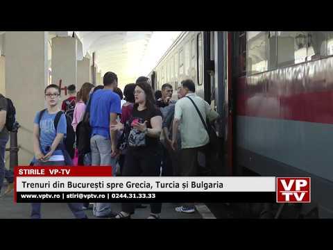 Trenuri din București spre Grecia, Turcia și Bulgaria
