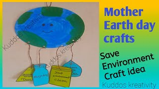 Easy And Quick Earth Day/save Environment Project Earth Day/environment Day Crafts Save Earth Craft