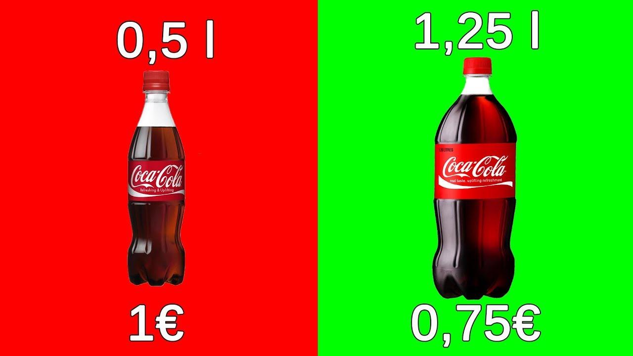 Prečo je 1,25 l Coca Coly lacnejší ako 0,5 l?