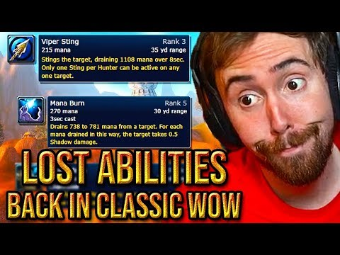 """Asmongold Reacts To The """"Top 10 Lost Abilities Coming Back in WoW Classic"""" - Hirumaredx"""