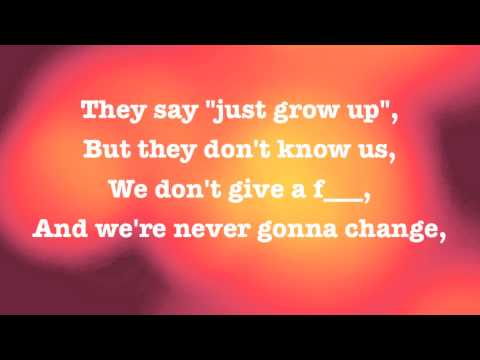 AVRIL LAVIGNE - HERE'S TO NEVER GROWING UP - OFFICIAL LYRICS