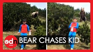A family walk and picnic in the Dolomites in Italy got interrupted by a shocking and unexpected encounter with a bear.   Twelve-year-old Alessandro was wandering among the bushes in the look for pine's cones when he appeared to be followed by a bear. The boy, who is passionate about nature, knew that he had to walk away slowly to not alarm the animal. When he safely reached his family, the bear stopped following him and disappeared.   Alessandro later told the local press that the secret was to keep calm and not to look the animal in the eyes. He also revealed that he was so excited about the adventure and that he is the happiest child in the world.  Report by Giulia Bassanese  #Bear #Dolomites #DangerousEncounters   Subscribe here: http://bit.ly/ODNsubs  Twitter: https://twitter.com/ODN  Facebook: https://www.facebook.com/ODN/  If you wish to purchase any of our clips for commercial use, please visit: http://www.itnproductions.co.uk/news/