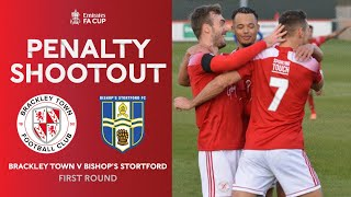 Full Penalty Shootout | Brackley Town v Bishop's Stortford | Emirates FA Cup 20-21