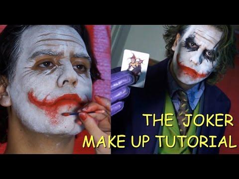 The Joker (Heath Ledger) tutorial maquillaje - make up tutorial (With English subtitles)