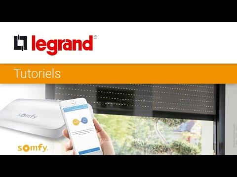 Je contrôle mes volets roulants radio Somfy avec l'App Home + Control de Legrand