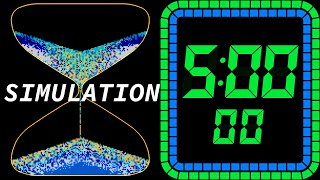 5 Minutes Sand Timer, Hourglass, Sand Glass, Clock Countdown Timer [Simulation]