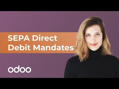 SEPA Direct Debit Mandates (SDD) | odoo Invoicing