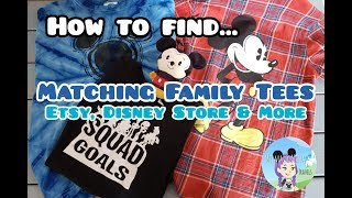 How To Get Matching Family Tees/Shirts - Disney Vacation