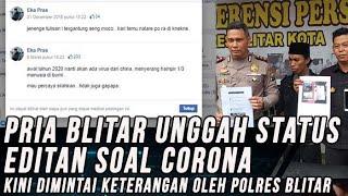 Status Facebook Editannya soal Virus Corona Viral, Seoang Pemuda di Blitar Diperiksa Polisi