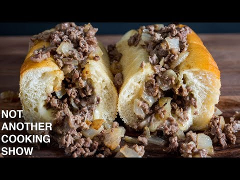 how to make a REAL PHILLY CHEESESTEAK at home