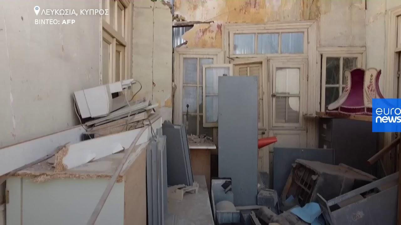 Εικόνες από την παράνομη κατεδάφιση διατηρητέων κτιρίων στην Παλιά Λευκωσία