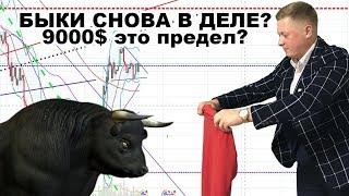 Bitcoin -  обзор ! Сбор стопов - это хорошо ! Сценарий общий -бычий !