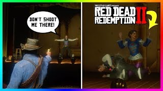 What Happens If You Shoot This Magician In The WRONG Spot In Red Dead Redemption 2? (RDR2 Secrets)