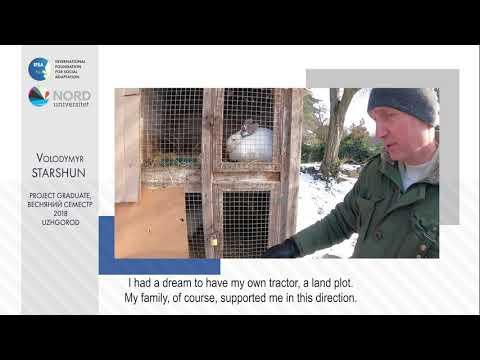 Video feedback of Volodymyr Starshun, graduate of the Ukraine-Norway project