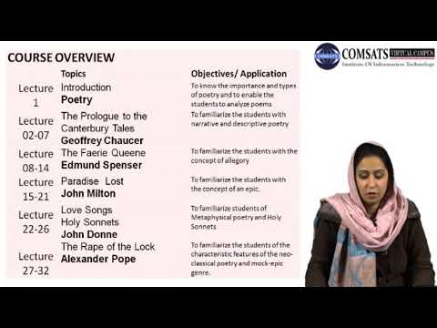 Poetry Classes For Beginners |Poetry 1 Eng 403 Lecture 01 - YouTube