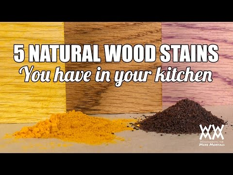 How To Make Natural Wood Stain With Common Household Items