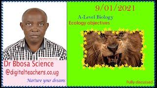 Ecology objectives (A-level)