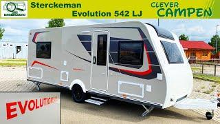 Sterckeman Evolution 542 LJ: Innovativer Einzelbetten-Grundriss im Test - Review/Test  Clever Campen