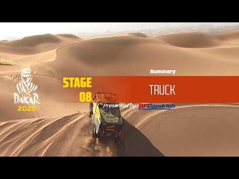 【ダカールラリーハイライト動画】ステージ8 トラック部門のハイライト