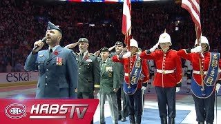 LAK@MTL: Anthems performed on Military Appriciation Night