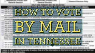 How To Vote Absentee in Tennessee with Renee Hoyos