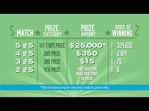 Лотерея Texas Cash Five! Как играть?