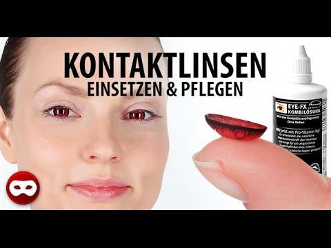 Kontaktlinsen einsetzen & rausnehmen – inklusive Sclera