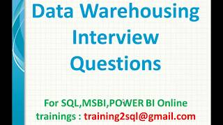 Msbi Interview Questions And Answers Pdfs
