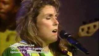 "Laura Branigan ""Don't Cry For Me Argentina"" Live, 1990 *RARE*"