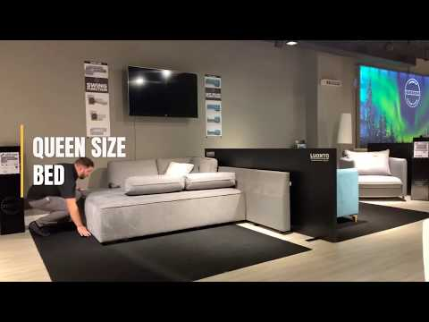 New York Sectional Sofa Sleeper (Queen Size) by Luonto Furniture