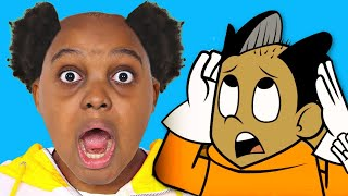 REACTING TO OUR CARTOON (FUNNY REACTION) - Onyx Family