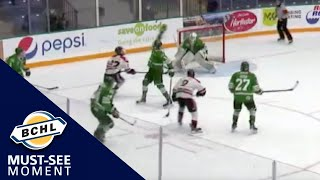 Must See Moment: Walker Erickson settles the puck down and beats the goaltender