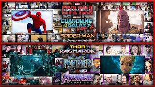 All Trailers of Marvel PHASE 3 Reactions Mashup (Avengers Endgame, Infinity War, Civil War, Thor 3)