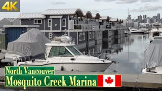 North Vancouver's floating homes in the Mosquito Creek Marina