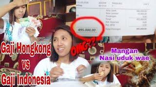 NGENES!! Perbandingan Gaji Hongkong Vs Gaji Indonesia 😢 Sambil Menikmati Nasi Uduk Telor Gelundung