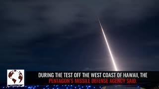 US Navy warship shoots down missile in space