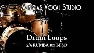 Drum Loops - 2/4 Rumba (85 BPM)