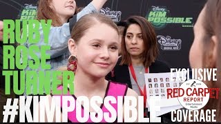 Ruby Rose Turner interviewed at the #DisneyChannel #KimPossible Movie Premiere